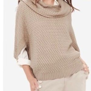 The Limited Poncho Sweater Cowl Neck Dolman Sleeve